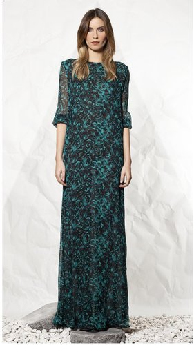 Winter Kate Crinkle Silk Chiffon Maxi