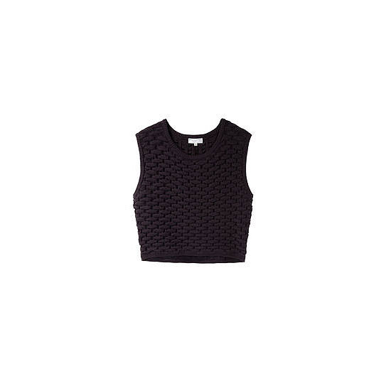 I L.O.V.E. the idea of a crop top, but they're very scary. I love this thick, weaved one; and figure I could wear it over a button up if I chicken out before leaving the house! — Alison, Health and Beauty Editor  Top, approx $280, Opening Ceremony from La Garconne