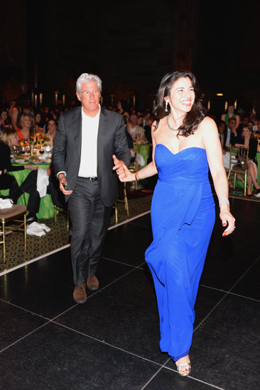 Richard Gere was led to the stage by Eric Ripert's wife, Sandra Ripert.