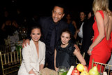 John Legend and Chrissy Teigen chatted with Elizabeth Olsen.
