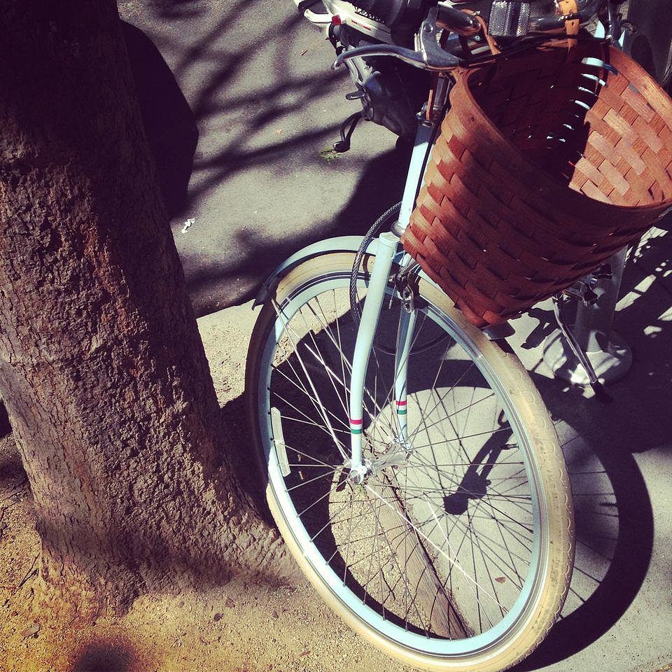 So, this bike was adorable. We love the woven basket on front, proving once again that there is always a stylish, functional option to be found.