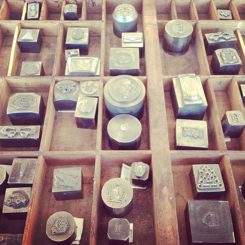 Spotted: antique jewelry casting stamps at Rejuvenation. Our newest obsession.
