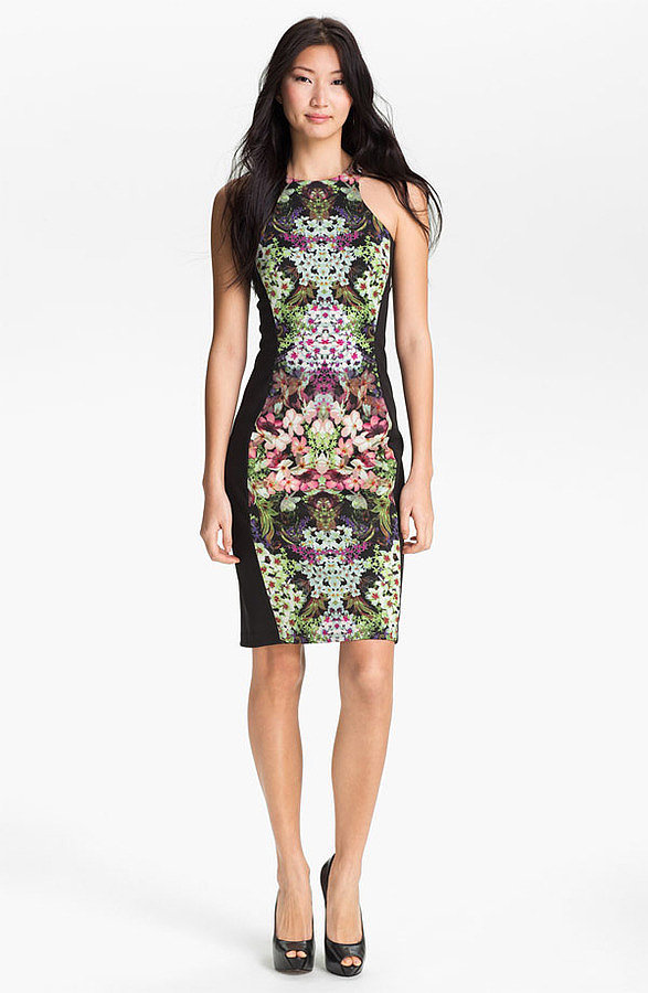 This Maggy London print sheath dress ($148) needs little in the way of accessories, thanks to its statement print. Temper it for the office with lower heels and a white blazer.