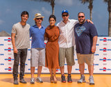 Salma Hayek and Taylor Lautner Jet to Cancun With Their Grown Ups 2 Crew