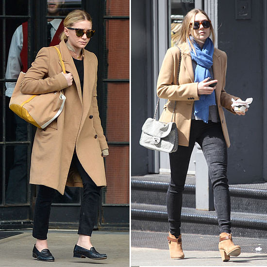 Ashley and Elizabeth Olsen Wear Camel Coats: Get the Look!