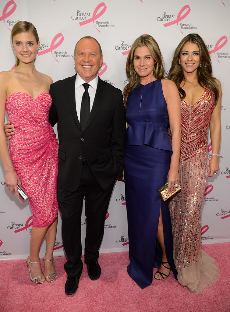 Michael Kors and Elizabeth Hurley met up with Constance Jablonski and Aerin Lauder.