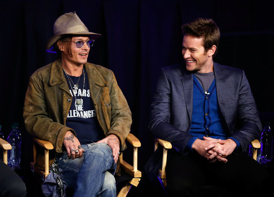 Johnny Depp Links Up With Armie Hammer to Promote The Lone Ranger