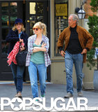 Sienna Miller stepped out with her parents in NYC.