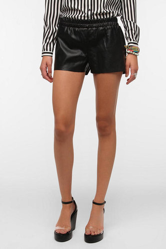 Lucca Couture Faux Leather Runner Short
