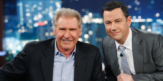 Watch Harrison Ford and Chewbacca Fight on Jimmy Kimmel Live