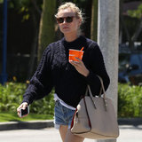 Diane Kruger's Jean Shorts Style | April 20, 2013