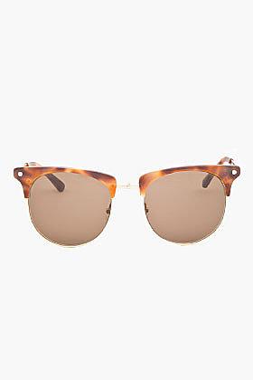 RAG & BONE Matte Brown Tortoiseshell Monroe Sunglasses