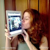 Debra Messing wished a happy birthday to her former Will & Grace costar Eric McCormack. Source: Debra Messing on WhoSay