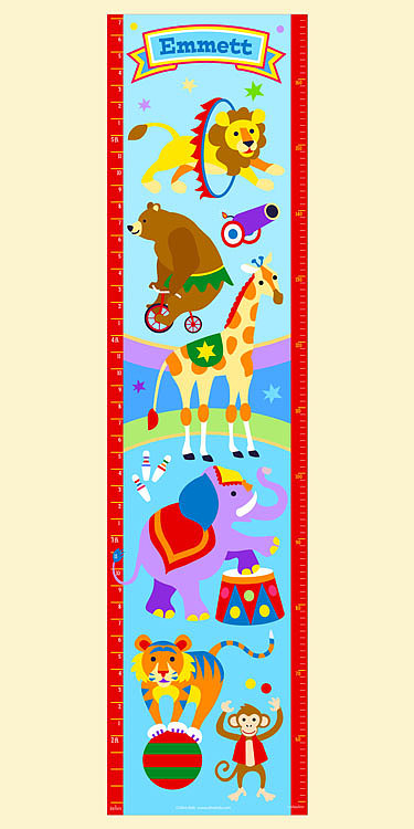 Olive Kids Personalized Big Top Growth Chart