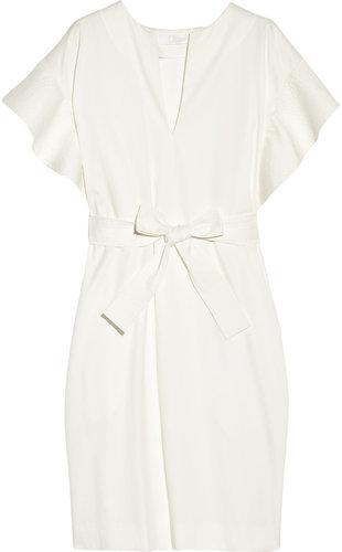 Chloé Ruffle-sleeve grosgrain dress