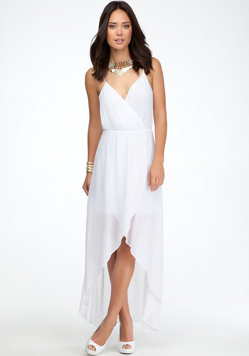 High Low Crossover Front Dress