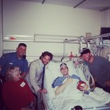 Bradley Cooper visited Boston Marathon bombing survivor Jeff Bauman at the Boston Medical Center.  Source: Twitter User TheFilmStage