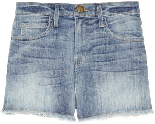 Current/Elliott The High Waist distressed denim shorts