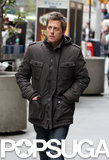 Hugh Grant strolled through NYC for his new comedy, also starring Martin Lawrence, on Thursday.