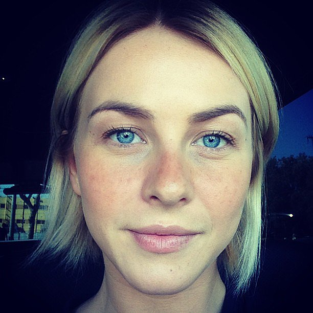 Julianne Hough showed off painted-on freckles she donned for an audition earlier this week. Source: Instagram user juleshough