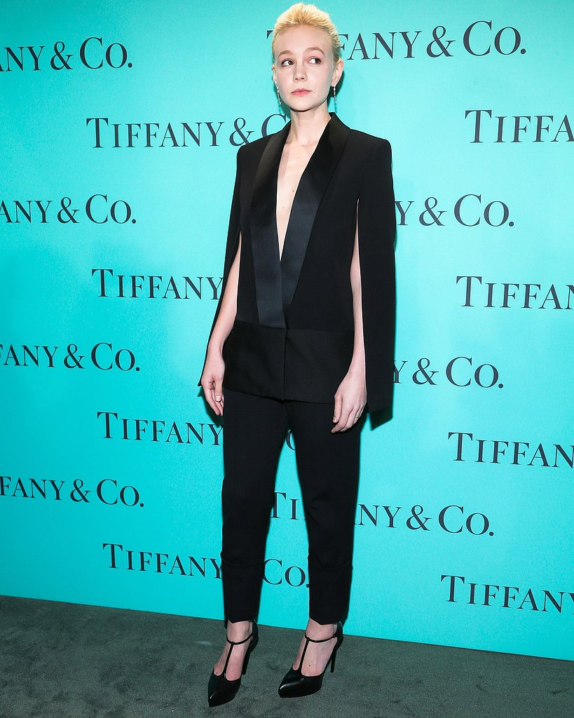 Carey Mulligan wore Fall 2013 Victoria Beckham at Tiffany & Co.'s Blue Book Ball in New York. Source: Will Ragozzino/BFAnyc.com