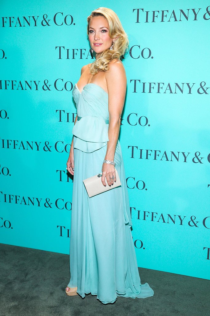 Kate Hudson wore Reem Acra at Tiffany & Co.'s Blue Book Ball in New York. Source: Will Ragozzino/BFAnyc.com