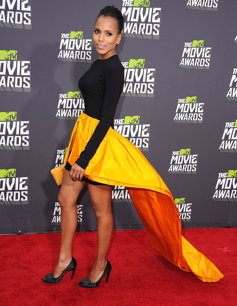 Kerry Washington wore Fall 2013 Michael Kors at the MTV Movie Awards in Los Angeles.