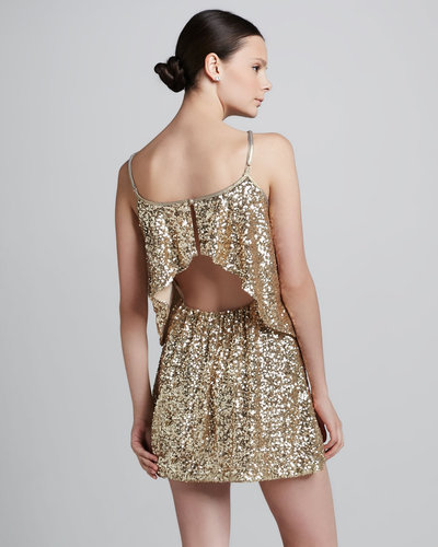 Lovers + Friends Sequined Tiered Dress