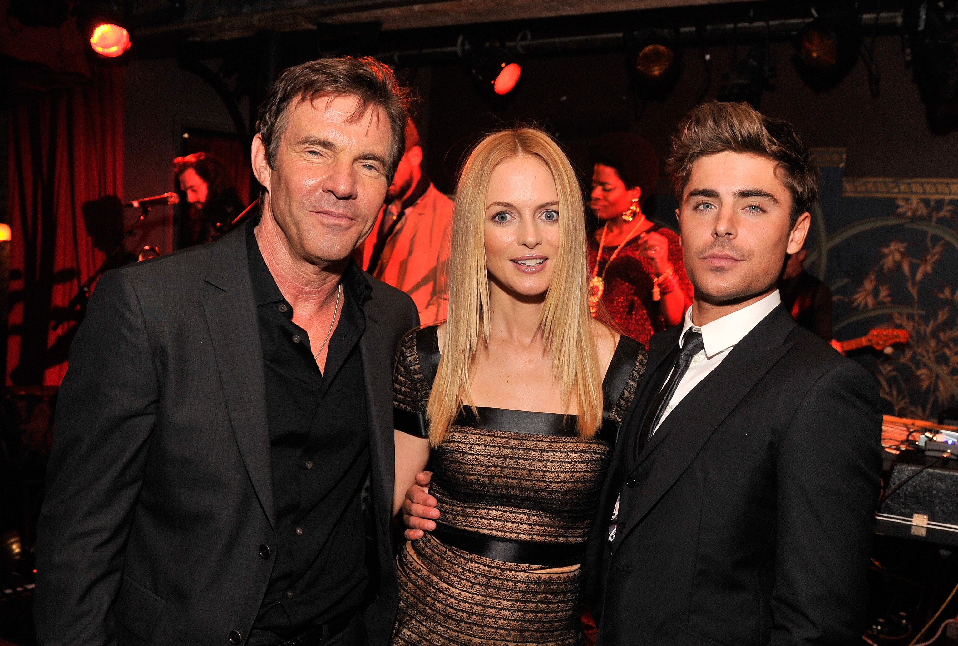 Dennis Quaid, Heather Graham, and Zac Efron partied it up