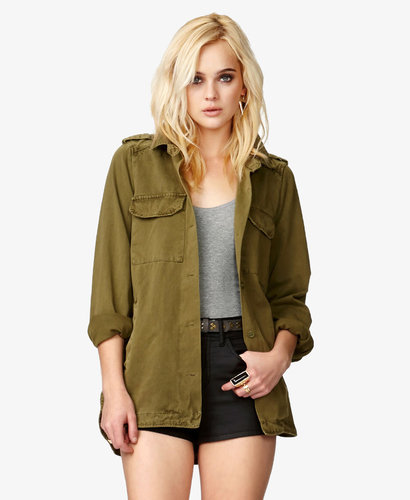 FOREVER 21 Buckled Utility Jacket