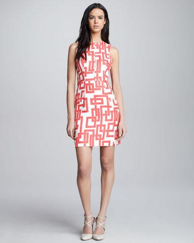 Milly Bri Geometric-Print Dress