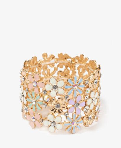 FOREVER 21 Lacquered Fairytale Flowers Bracelet