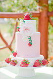 Strawberry Garden Photo by Melissa Biador via The Wedding Chicks