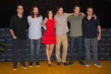 Wagner Moura, Diego Luna, Alice Braga, Sharlto Copley, Neill Blomkamp, and Matt Damon promoted Elysium in Cancun.