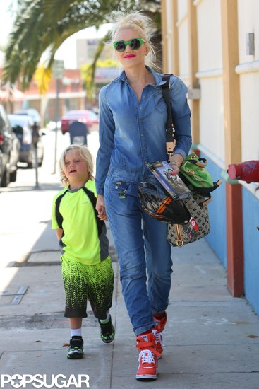 Gwen Stefani and Zuma Rossdale made a stylish strut through LA.