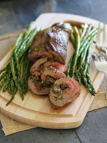 Pesto Stuffed Flank Steak