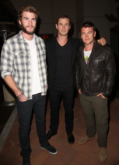 Liam, Chris, and Luke Hemsworth attended the Spring Break: Destination Education fundraiser party in LA on Saturday.