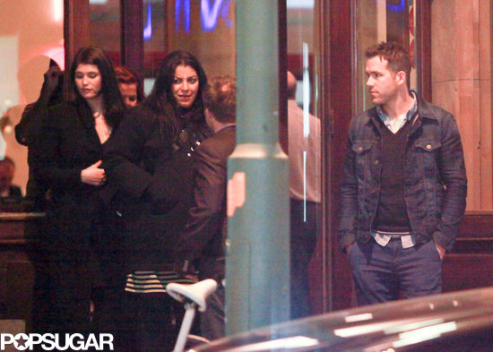 Ryan Reynolds and a group dined out in Berlin.