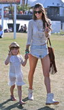 Alessandra Ambrosio brought her daughter, Anja Mazur, along for Coachella fun in Indio, CA.