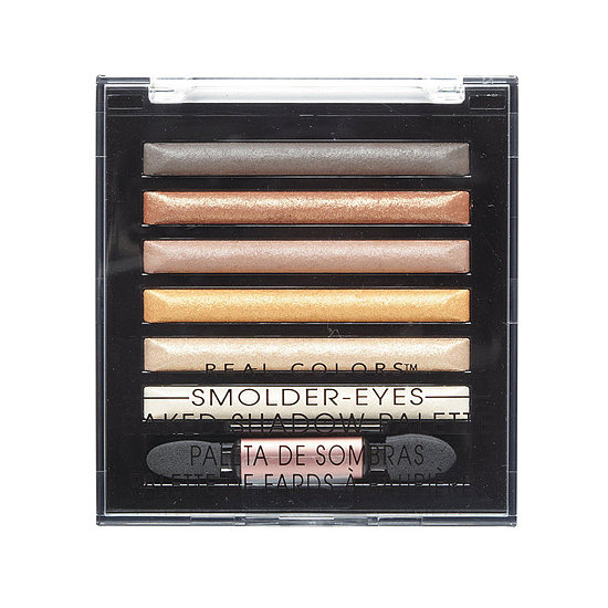 The Real Colors Smolder-Eyes Palette ($9) is a mix of metallics, highlights, and smoky shades that you can alternate to get a number of easy-to-wear looks.