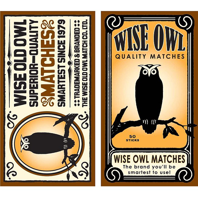 These wise owl matches ($3) add a cheeky touch to your desk space.