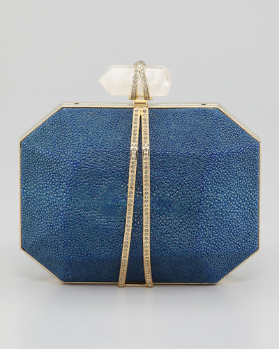 Marchesa Iris Stingray Minaudiere, Blue