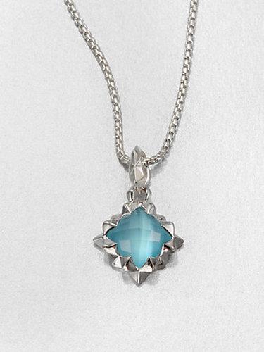 Stephen Webster Blue Cat's-Eye Doublet & Sterling Silver Pendant Necklace