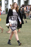 Mischa Barton made her way around the fields at Coachella.