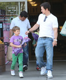 Mark Wahlberg Breaks From Pain & Gain to Pick Up Flowers With His Boys