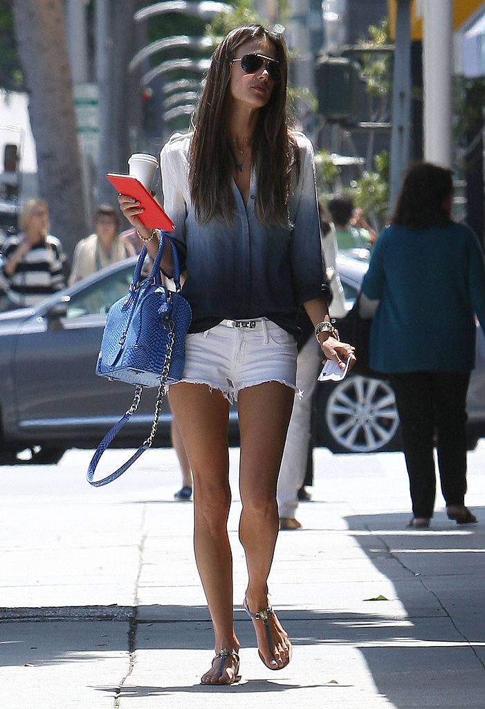 Alessandra Ambrosio Shows Off Her Stems While Walking in LA