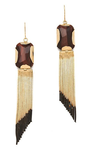 Iosselliani's fringe earrings ($245, originally $306) are a great mix of polished and bohemian.