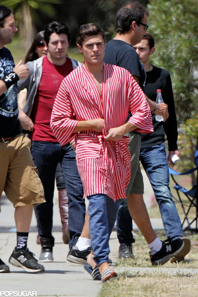 Zac Efron filmed Townies in LA.