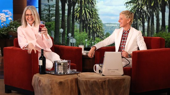 Video: Diane Keaton Gets Wild While Drinking Wine and Talking Tantric Sex With Ellen DeGeneres and More!