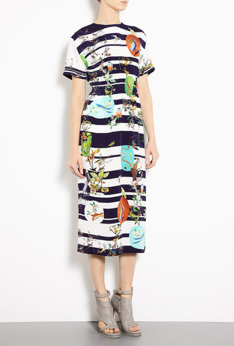 Mother of Pearl Exclusive Bird Print Ariel Midi Dress